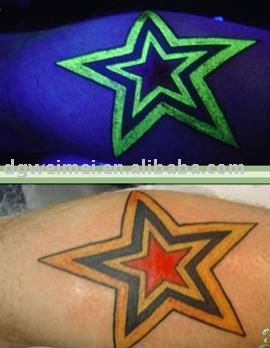 fashion night glow in the dark tattoo