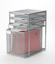 silver metal mesh 4ties drawer/filling tray/desk organizer