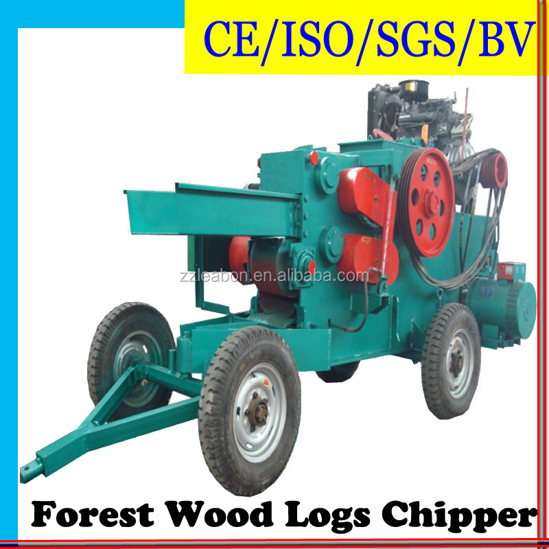 Automatic Electric Motor Power or Diesel Wood Shredder Chipper