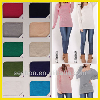 cotton single jersey knitting fabric for t-shirt