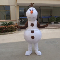 China factory popular frozen snowman olaf mascot costume for adult