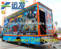 Bus 5d 7d 9d cinema advertising mobile theater games