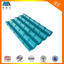 Difficult to be burned Tile roof pvc roof sheet easy installation for warehouses