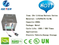 Lead-acid Replacement; Electric Vehicle; Scooter; Moped; Bike; Solar; PV; Lifepo4 / Li-ion Battery Pack 24v100Ah