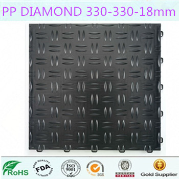 plastic interlocking flooring/pp interlocking flooring