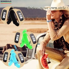 pedometer bracelet wristband fashion and popular sport watch time watch for ladies outdoor pedometer