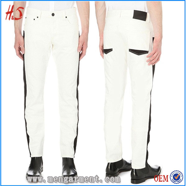 Best Selling Fast Delivery Cheap Fashion Men Jeans Bulk Wholesale White Jeans For Men