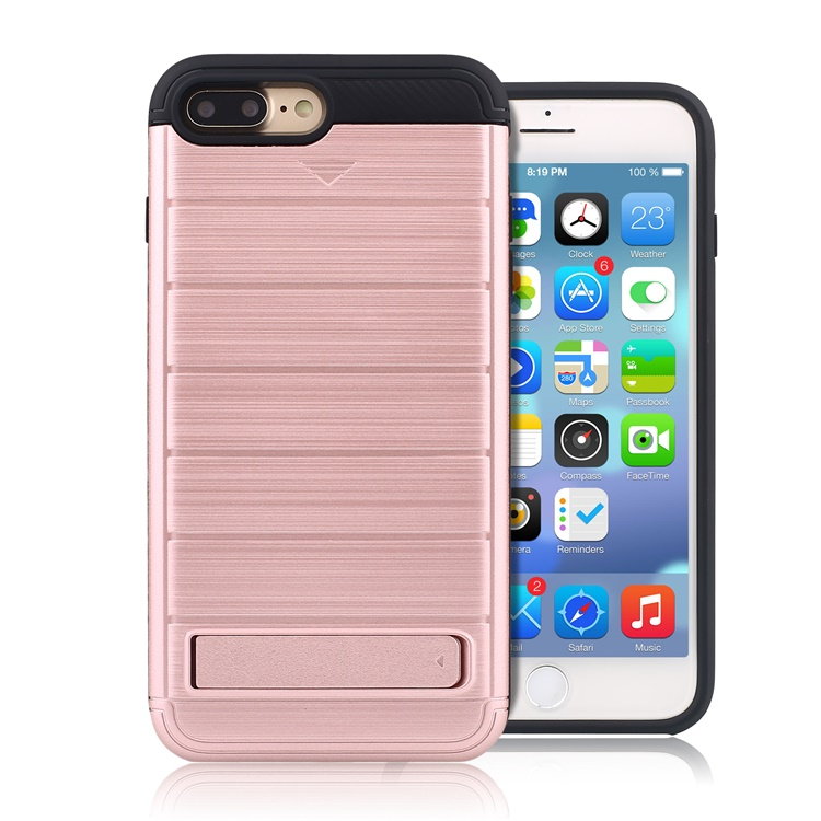 Bamboo phone case for iphone 7 plus case 2016 , kickstand case for iphone 7