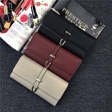 Leather Wallet for Women Slim Clutch Purse Long Designer Trifold Checkbook Ladies Credit Card wallet