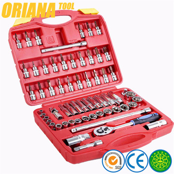 61 pcs auto socket set, hex wrenches, bit sockets