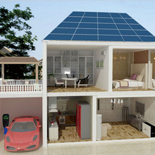 5KW solar power generating system for home with 10kwh lithium storage pack