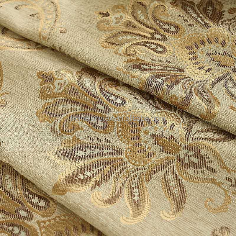 Wholesale Curtain Customized 100% Polyester Luxury Jacquard Blackout Ready Made Curtain Fabric Turkey