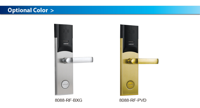Popular Hotel door lock system using rfid card 125KHz or 13.56MHz