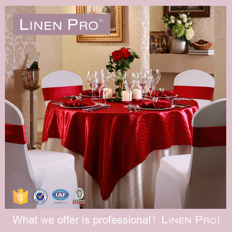 LinenPro Cheap Table Linen Spun Polyester Tablecloth 120""