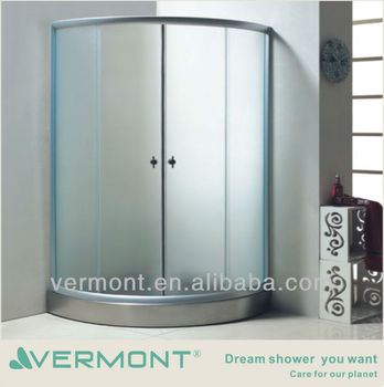 Glass Room With Stainless Steel Shower Tray