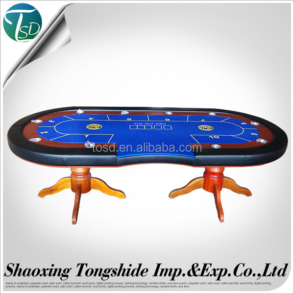 custom double Cup holder casino poker table,baccarat round poker table