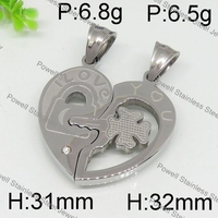 Best Selling Design silver heart shape enrave arrowhead pendants