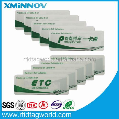 Tamper evident ETC AVI tag sticker anti stolen parking system