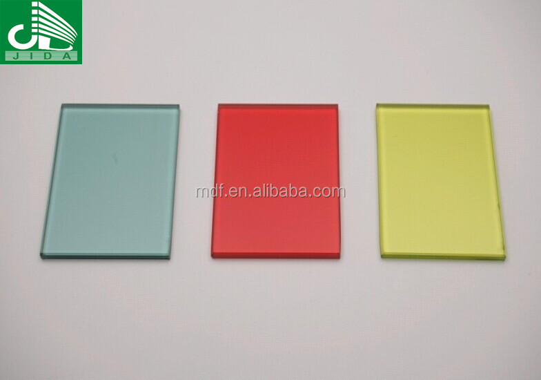 Green tinted opaque tempered laminated glass for building