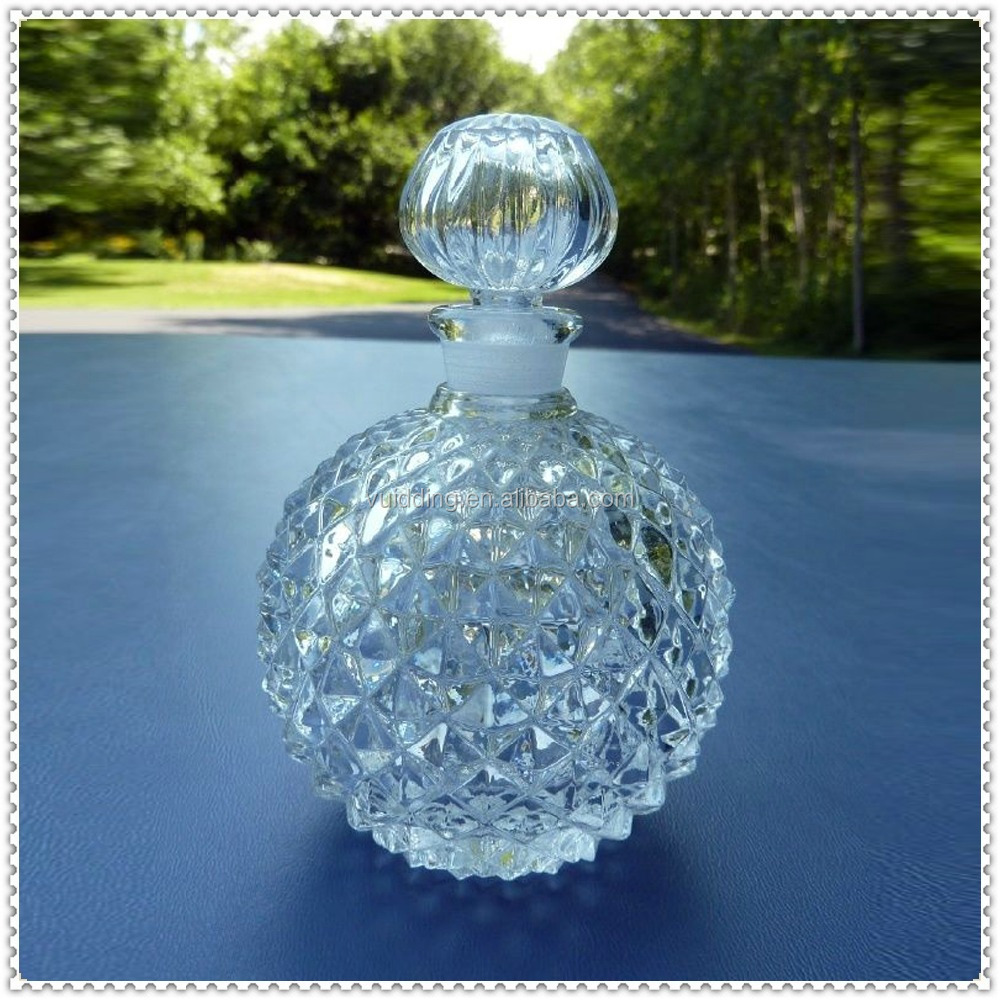Transparent Crystal Golf Empty Perfume Bottle For Table Decoration