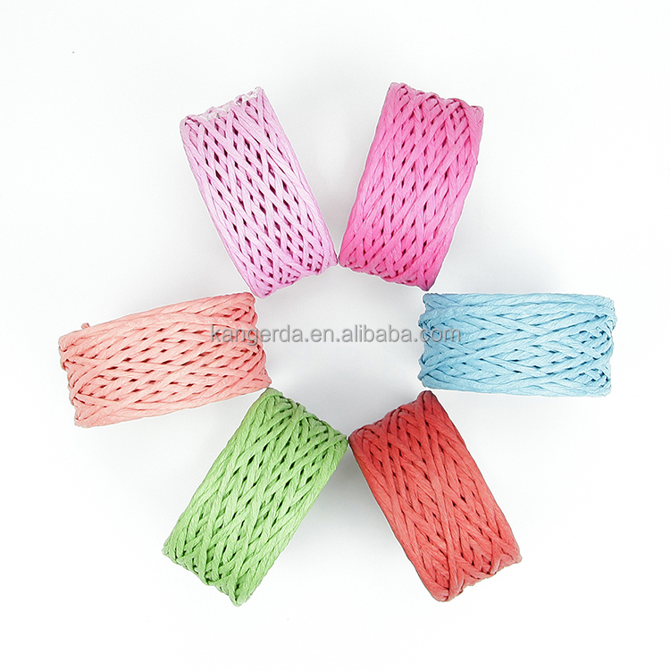 Craft Paper Rope Ribbon Twine Cord String for Wrapping Decoration