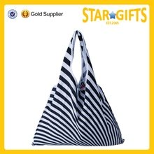 2015 Alibaba China Fashion Reusable Crease-resist grocery vegetable Shopping Black and White Strip Pattern Tote Bag
