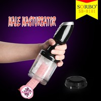 New Arrival TPE Male Masturbator Machine Electronic Artifical Pussy Vibrator Adult Sex Toys for Man