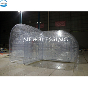 Big factory mobile blow up double inflatable bubble tent for camping and events