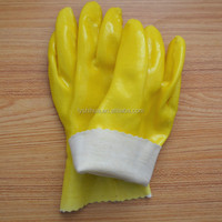 acid resisting pvc coated glove for industrial use
