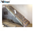 ABLinox ss304/316 stainless steel railing design SS304 316 stair railing with wood stair pillar
