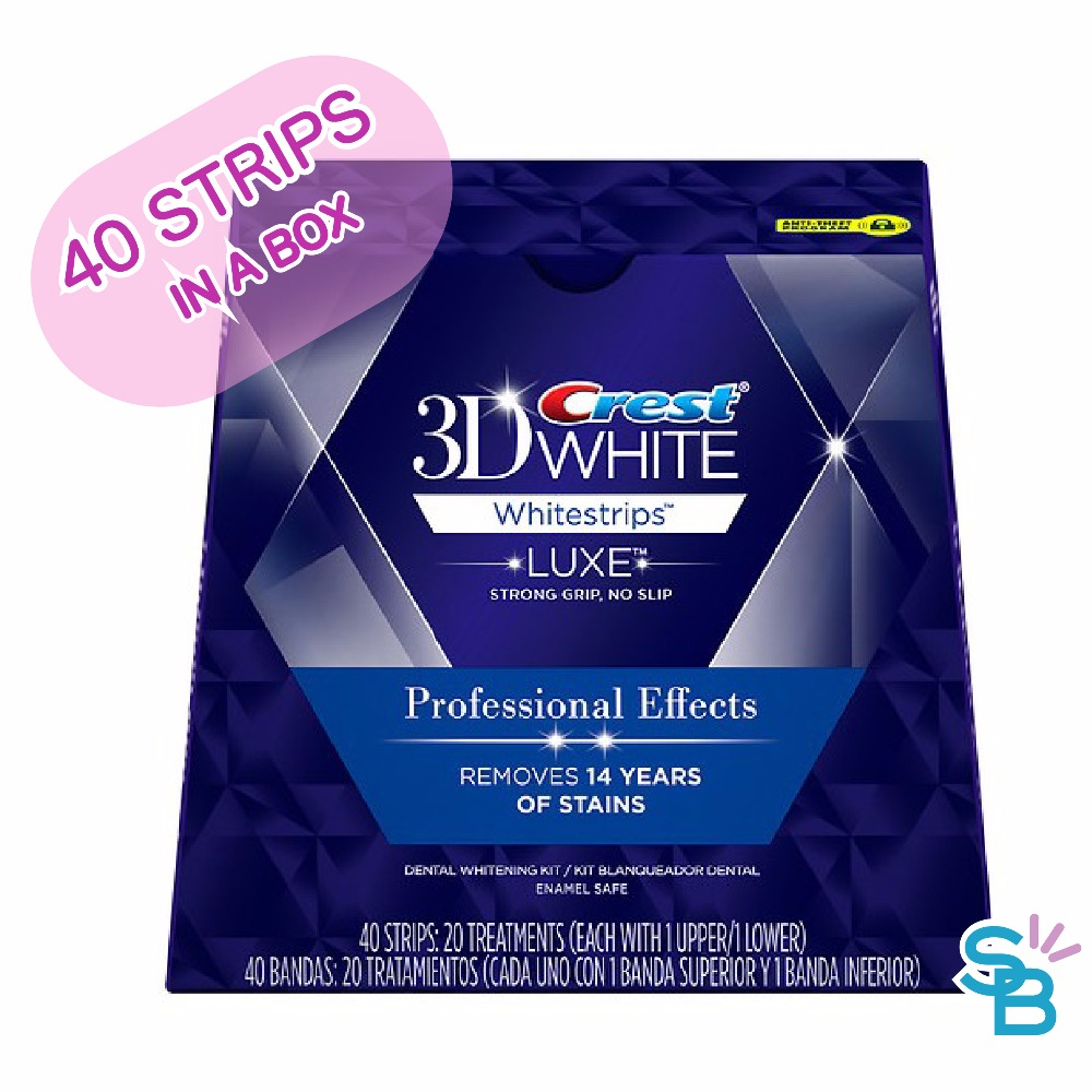 Crest 3D Whitestrips White Luxe Professional Effects ( 20 Pouches 40 Strips )