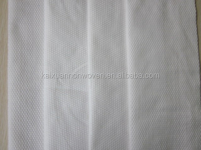 white pearl embossed plain spunlace nonwoven cloth