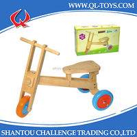 EN71 Approved Wholesale Wooden Kid Baby Tricycle