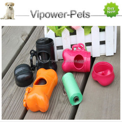 Portable Pet Cleaning Excrement box with garbage bag 15pcs/roll Pet products Free shipping