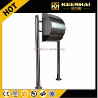Standing Stainless Steel Outdoor Garden Mailbox Mail Box Outdoor House