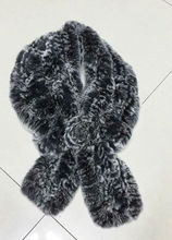 morden knitted rex rabbit faux fur shawl