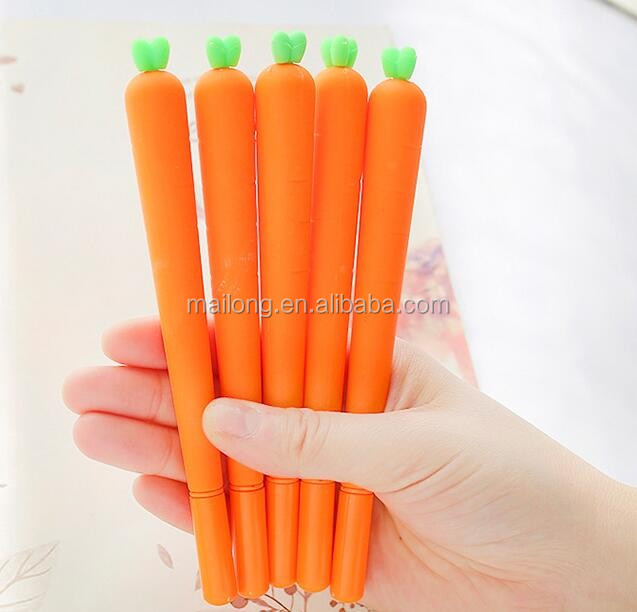 Cute cartoon vivid modelling of carrot pen neutral pen 0.5 mm black pen pen students PN5538