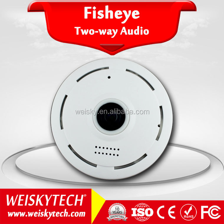 Weisky IPC360 App 1.3 Megapixel 360 Degree Panoramic Fisheye 960P Smart Home Two Way Audio CCTV WIFI IP Camera