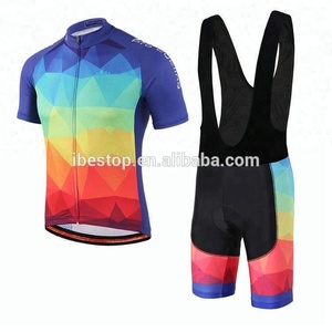 Custom Cycling Apparel Bicycle Jersey Set Cycling Bibs