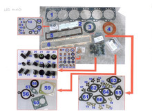 6C gasket kit for cummins engine application to overhaul marine, auto, construction engines