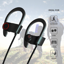 sweatproof wireless bluetooth headphone sports earphone headset RU8 earbuds for outdoor gym travel best sound quality headset