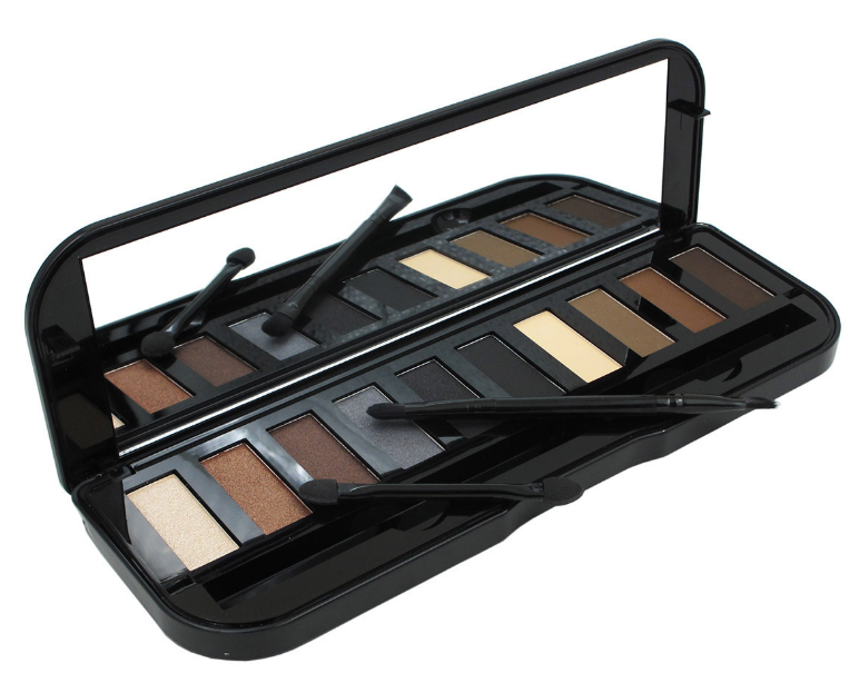 Wholesale private label professional 6 colors custom eyeshadow palette with 4 colors brow powder