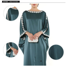 2014 New Designer Free Size Muslim Maxi Dress Long Sleeve Abaya Islamic Kaftan jersey Dress for sale 2w-14