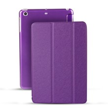 Stand Ultrathin Case Transparent Anti Fingerprint PC Back Cover Smart Case For iPad mini 1/2/3