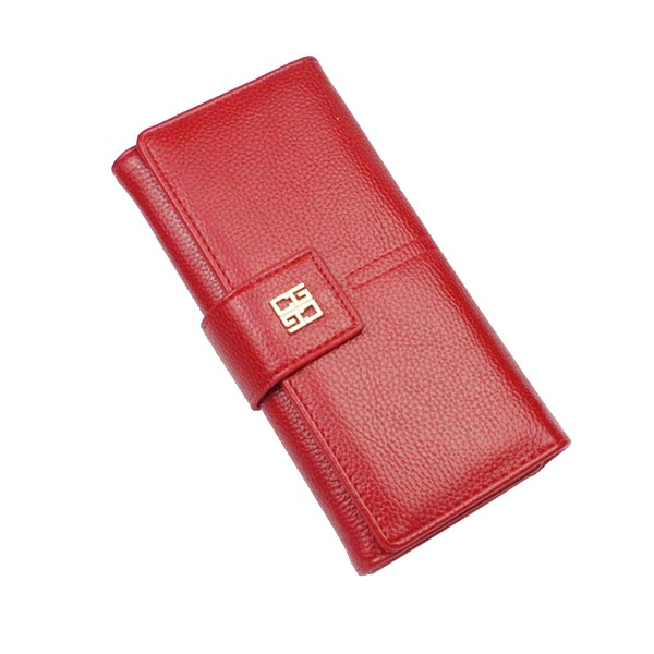 100% pu leather 12slots card holder cheap trifold clutch woman wallet