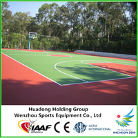 Eco-friendly outdoor basketball court rubber floor
