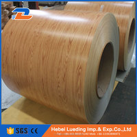 Wood grain color galvanized steel coil for metal roofing