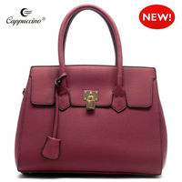 2015 Textured Kiss Lock style leather bag fashion leisure women bag