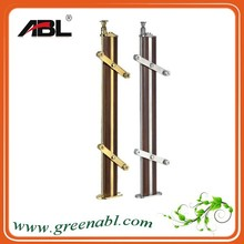 ABL 304/316 Stainless Steel Glass Balustrade Posts Balustrade Kts Wood Handrail Fttings