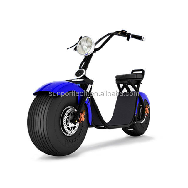 Sunport New arrival WOQU X1 model harley headlight 2seat 2wheel with CE certificate electric scooter